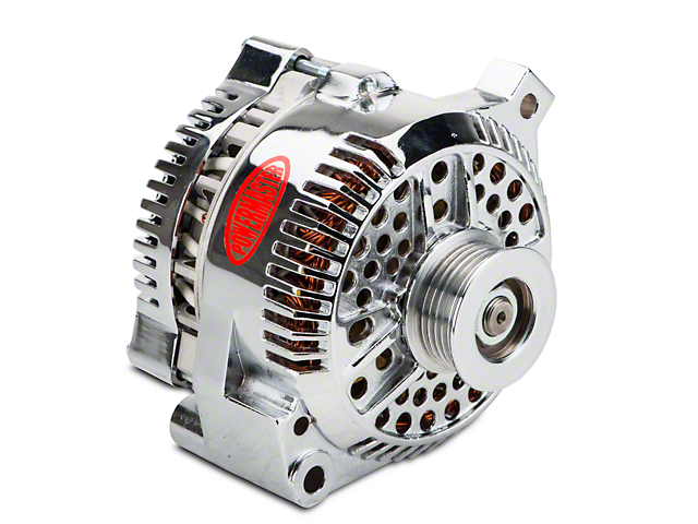 Powermaster Alternator - 130 Amp Chrome (94-95 GT; 94-00 V6)