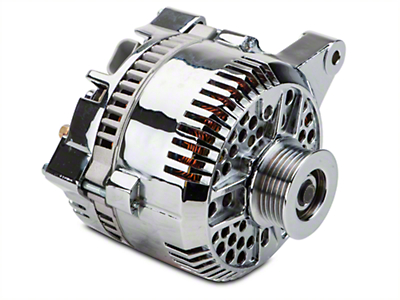 Powermaster Alternator - 200 Amp Chrome (96-98 GT)