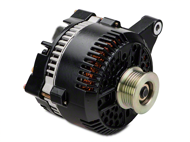 Powermaster Alternator - 200 Amp Black (96-98 GT)