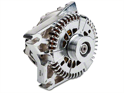 Powermaster Alternator - 200 Amp Chrome (96-01 Cobra; 03-04 Mach 1; 01 Bullitt)