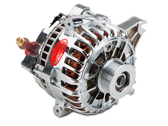 Powermaster Alternator - 225 Amp Chrome (99-04 GT)