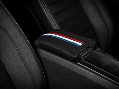 Premium Leather Arm Rest Cover w/ Padding - Red, White & Blue (10-14 All)