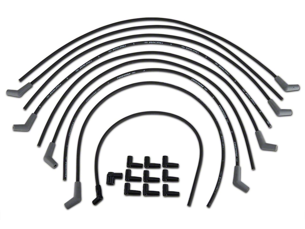 Ford Performance High Performance 9mm Spark Plug Wires - Black (79-95 V6, V8)