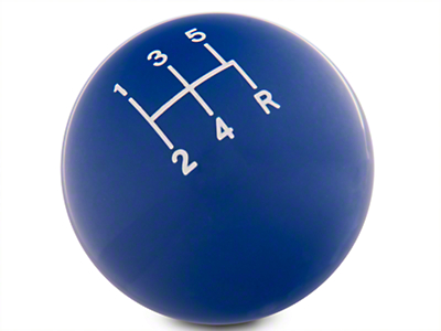 Modern Billet Retro Style 5-Speed Shift Knob - Blue (79-04 All; Excludes 03-04 Cobra)