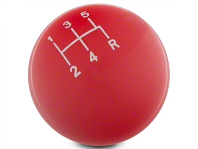 Modern Billet Retro Style 5-Speed Shift Knob - Red (79-04 All; Excludes 03-04 Cobra)