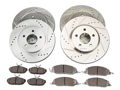 Power Stop Street Warrior Brake Rotor & Ceramic Pad Kit - Front & Rear (05-10 GT)