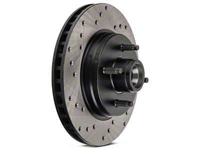 StopTech Sport Cross-Drilled Rotors - Front Pair (87-93 5.0L)