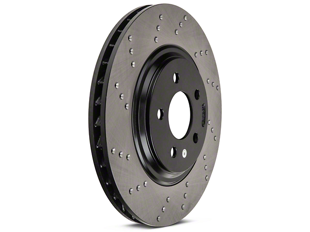 StopTech Sport Cross-Drilled Rotors - Front Pair (94-04 Bullitt, Mach 1, Cobra)