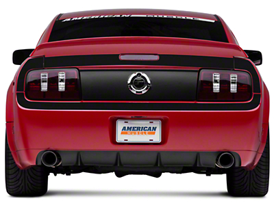 Matte Black Rear Surround Decal - Upper & Lower (05-09 All)