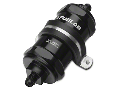 Fuelab In-Line Fuel Filter - 40 micron stainless steel / 6AN (79-16 All)
