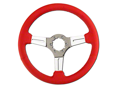 Red Leather Steering Wheel (79-04 All)