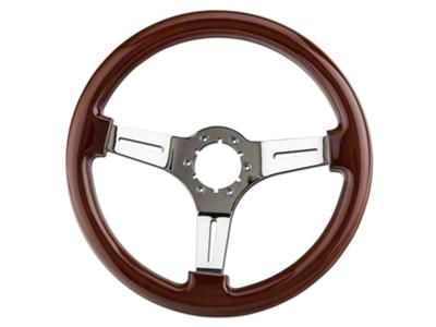 Wood & Chrome Steering Wheel (79-04 All)