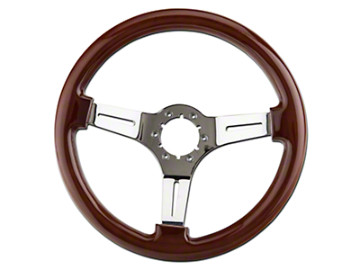 Wood & Chrome Steering Wheel (79-04 All)
