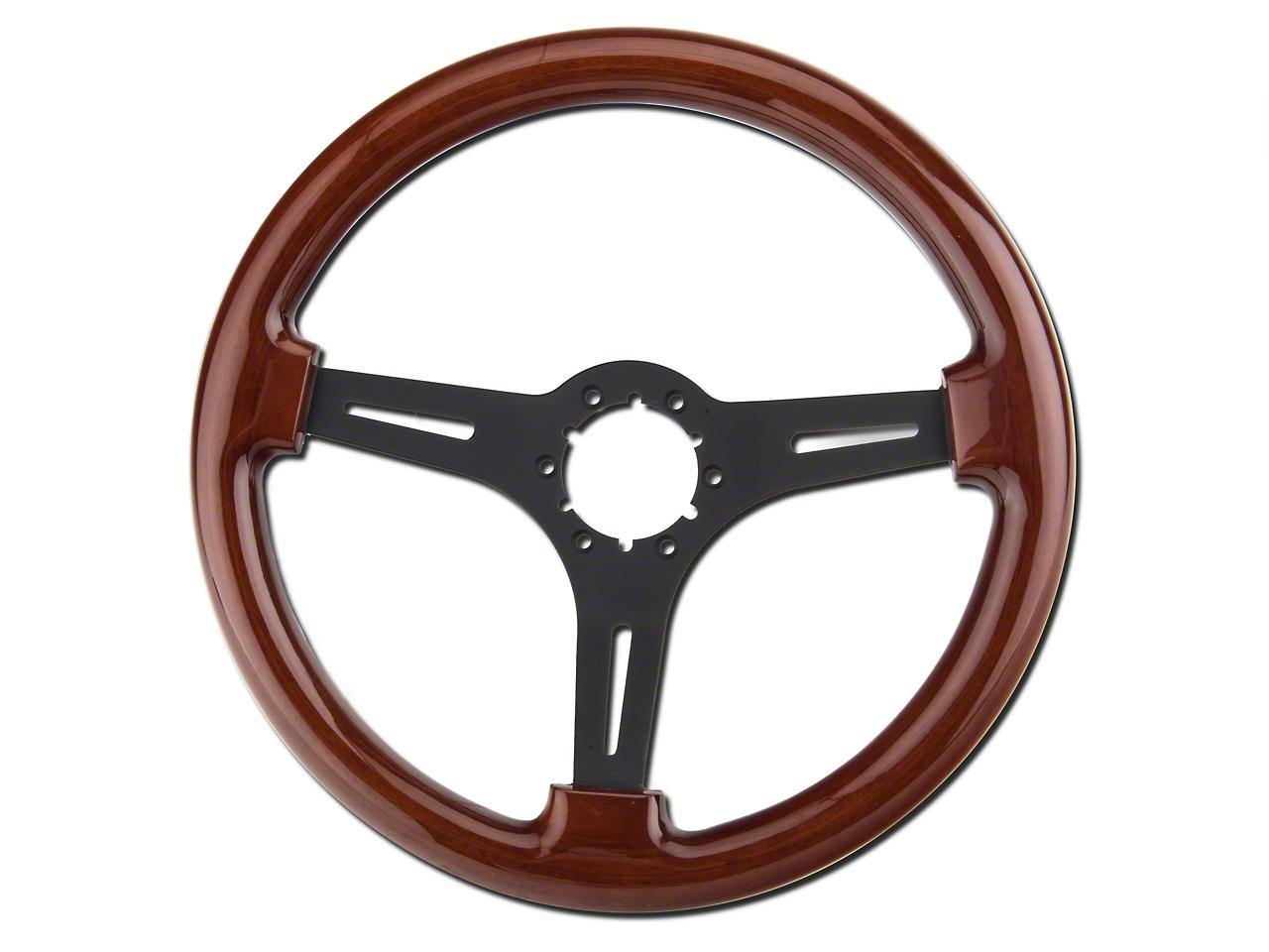 Wood & Black Steering Wheel (79-04 All)
