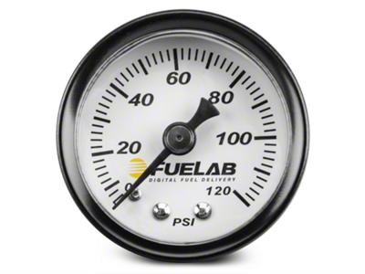 Fuelab Fuel Pressure Gauge - 1.5 in. (86-14 All)