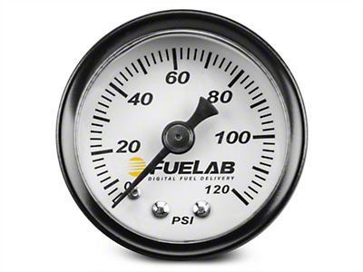 Fuelab Fuel Pressure Gauge - 1.5 in. (86-16 All)