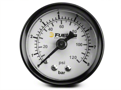 Fuelab Fuel Pressure Gauge - 1.5 in. Dual Bar/PSI Scale (86-14 All)