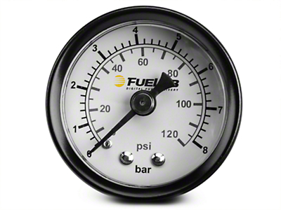 Fuelab Fuel Pressure Gauge - 1.5 in. Dual Bar/PSI Scale (86-17 All)