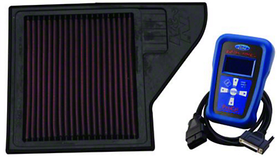Ford Racing K&N Air Filter with Track Cal Tuner - Manual (13-14 GT)