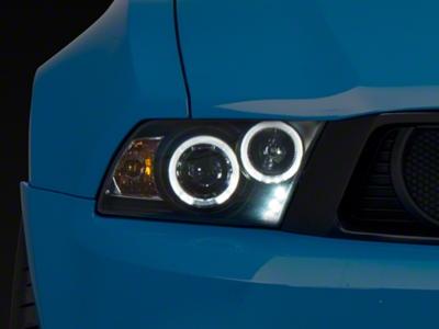 Black Projector Dual Halo Headlights - LED (10-12 GT, V6)