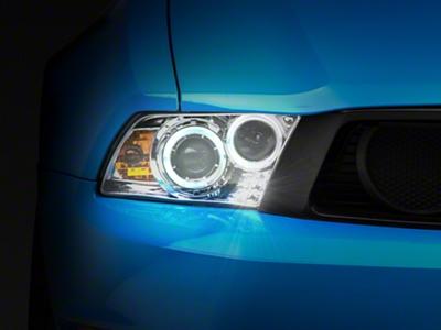 Chrome Projector Dual Halo Headlights - LED (10-12 GT, V6)