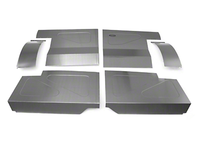 Scott Rod Fabrication Aluminum Rear Seat Delete Kit w/ Interior Trim Panels - Coupe (87-93 All)