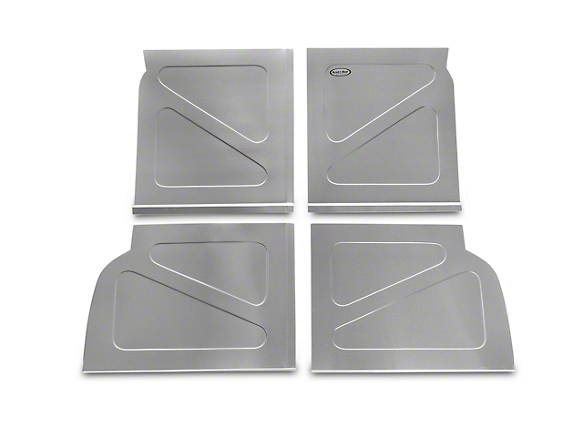Scott Rod Fabrication Aluminum Rear Seat Delete Kit w/o Stock Filler Panel installed (94-04 All)