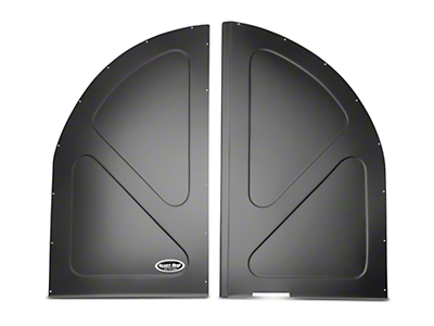 Scott Rod Fabrication Aluminum Spare Tire Cover Panel - Black - Coupe (79-93 All)