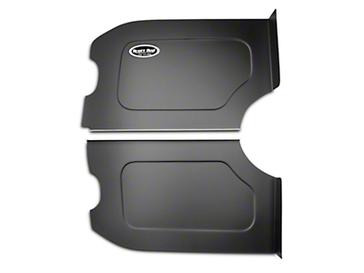 Scott Rod Fabrication Aluminum Trunk Floor And Side Panel Cover Kit - Black - Coupe (87-93 All)