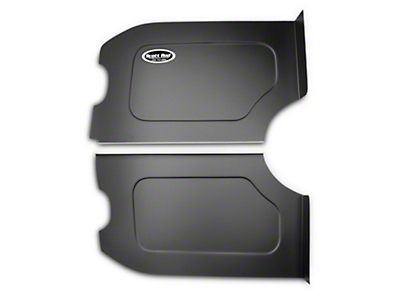 Scott Rod Fabrication Aluminum Trunk Side Panel Covers - Black - Coupe (79-93 All)
