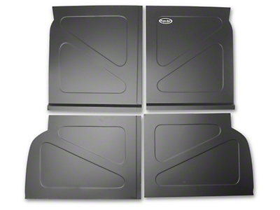 Scott Rod Fabrication Aluminum Rear Seat Delete Kit w/ Stock Filler Panel installed - Black (94-04 All)