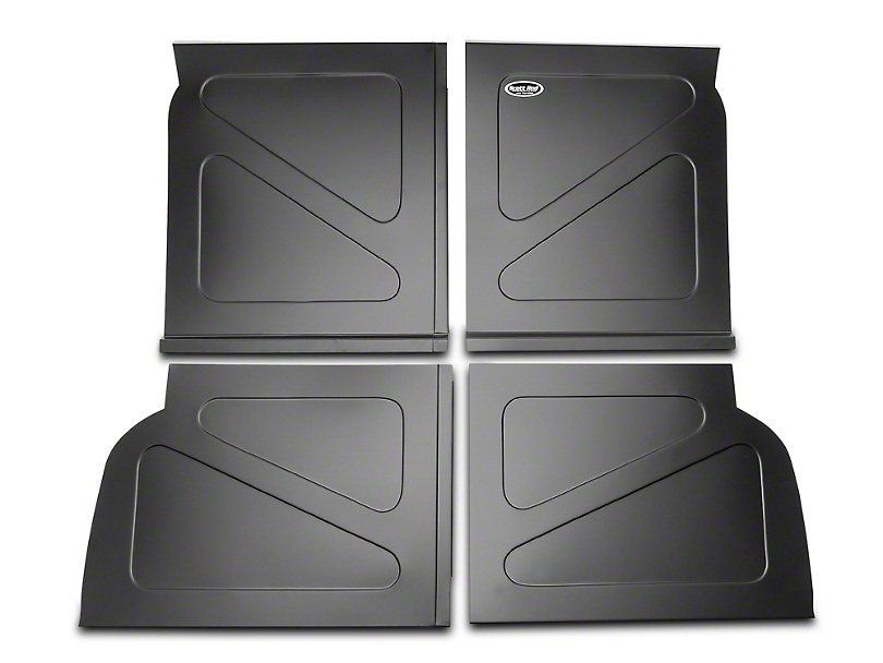 Scott Rod Fabrication Aluminum Rear Seat Delete Kit w/o Stock Filler Panel installed - Black (94-04 All)