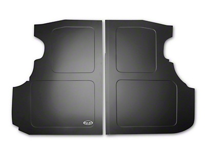 Scott Rod Fabrication Aluminum Trunk Floor Cover - Black - Coupe (94-04 All)