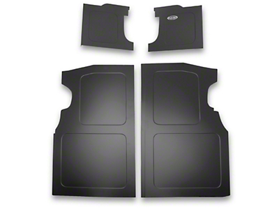 Scott Rod Fabrication Aluminum Trunk Floor And Side Panel Cover Kit - Black (94-04 All)