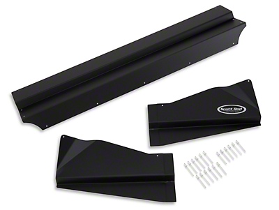Scott Rod Aluminum Radiator Cover - Black (87-93 All)