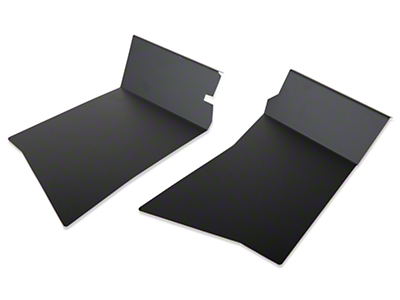 Scott Rob Fabrication Aluminum Rear Inner Skirt Covers - Black (87-93 All)