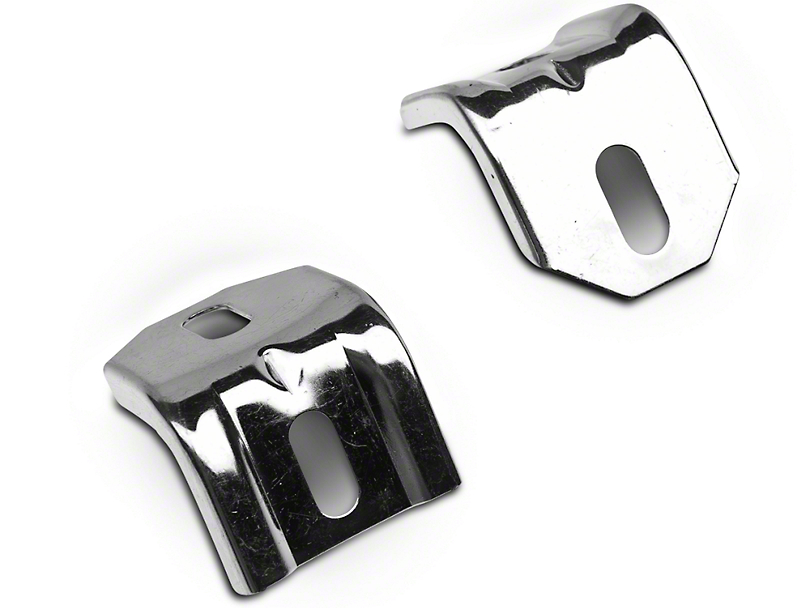 Polished Stainless Steel Lower Radiator Brackets (83-93 5.0L)