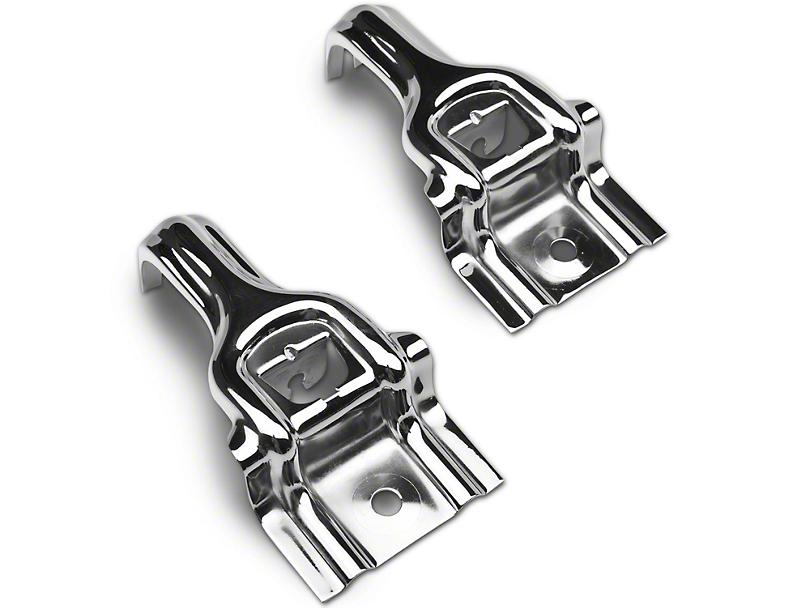Chromed Steel Upper Radiator Brackets (87-93 5.0L)