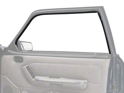 Door Window Run Channel - Passenger Side - Coupe, Hatchback (79-93 All)