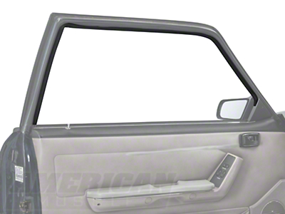 Door Window Run Channel - Driver Side - Coupe, Hatchback (79-93 All)