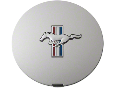 Ford Pony Wheel Center Cap - Argent Silver w/ Tri-Bar Pony (90-93)