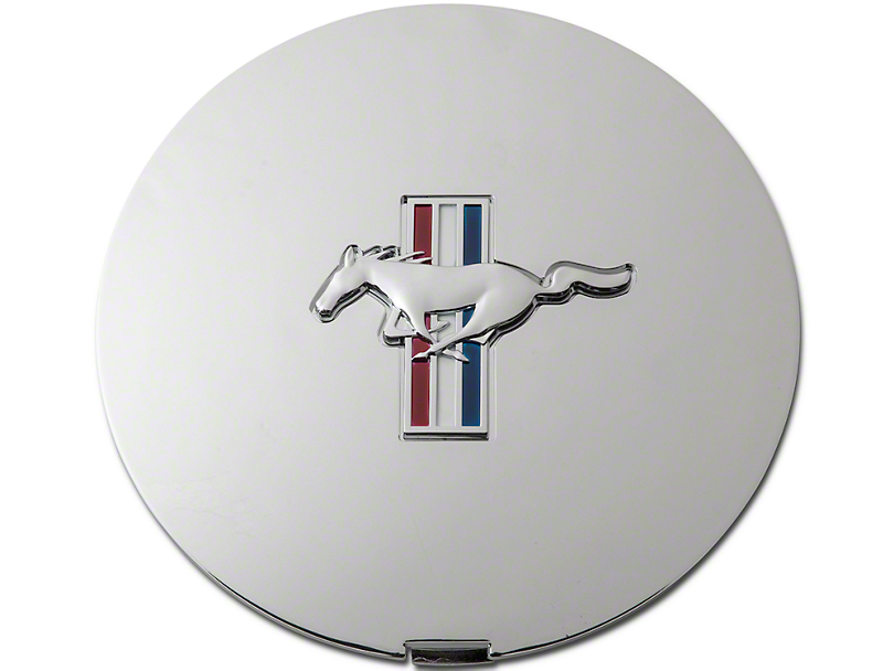 Pony Wheel Center Cap - Chrome w/ Tri-Bar Pony (90-93)