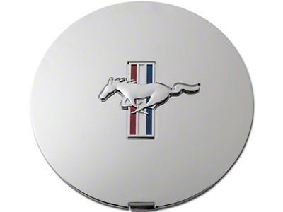 Ford Pony Wheel Center Cap - Chrome w/ Tri-Bar Pony (90-93)
