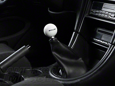 Shelby Classic White 6-Speed Shift Knob (83-04 All)