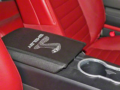 Shelby Armrest Cover - Tiffany Cobra Logo (05-09 All)
