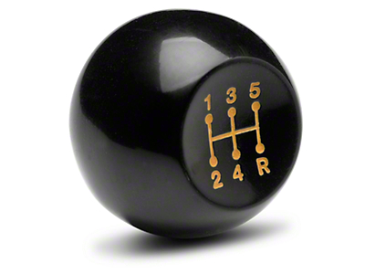 Classic 5-Speed Shift Knob - Black (85-93 All)