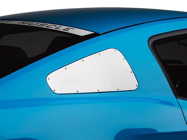 Scott Drake Window Covers w/ Rivets - Brushed (10-14 All)