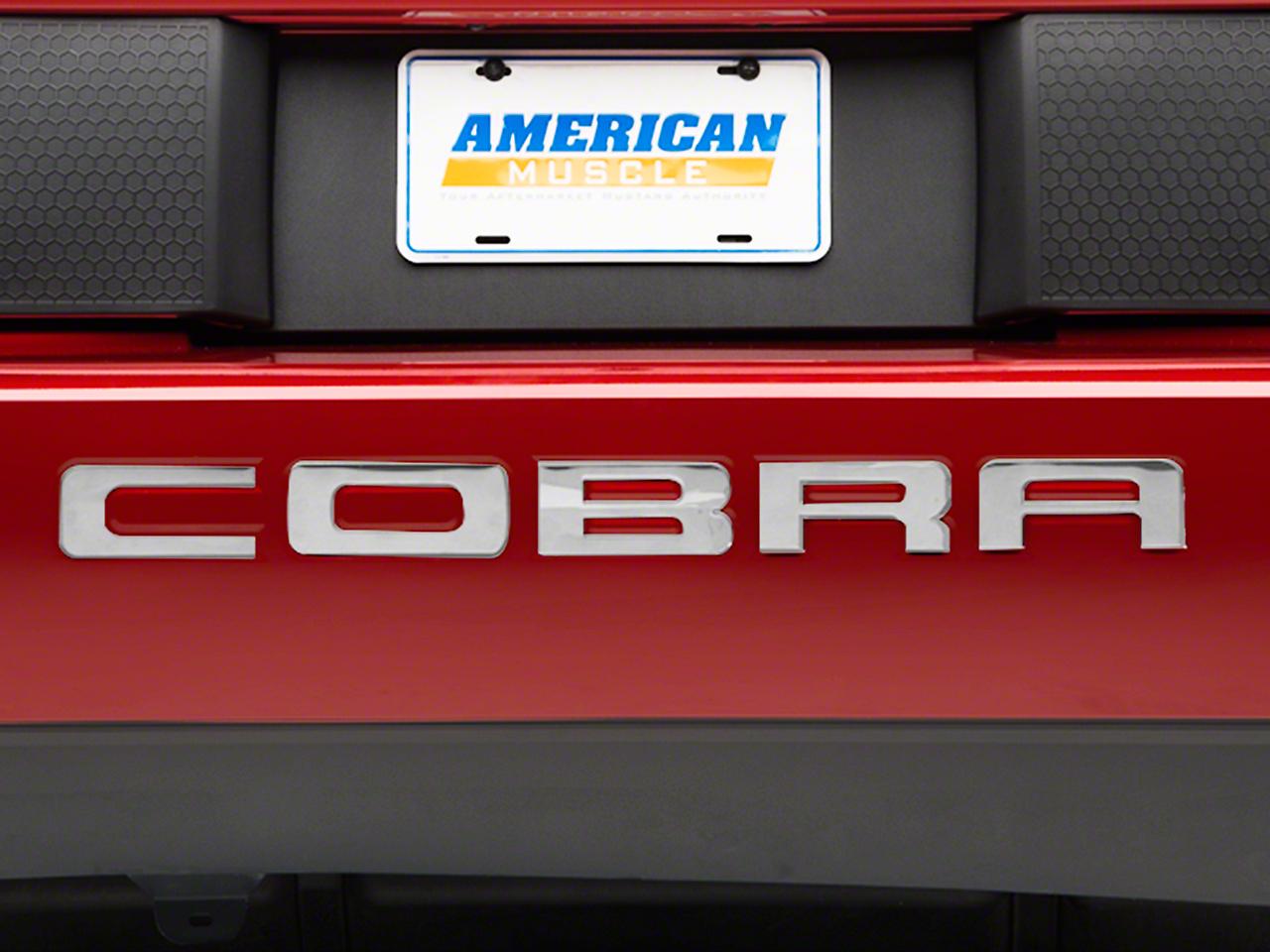 Stainless Steel Bumper Insert Letters (03-04 Cobra)