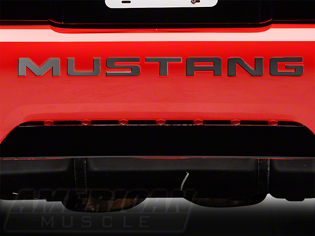 SpeedForm Black Chrome Bumper Insert Letters (99-04 GT, V6, Mach 1; 99 Cobra)