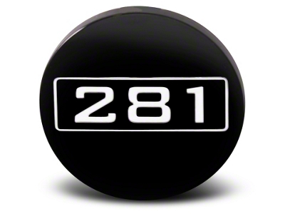Black 281 Center Cap - Large